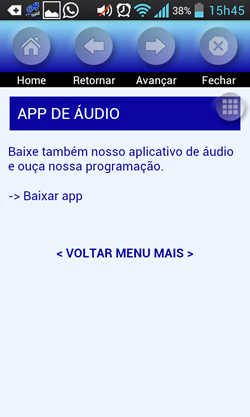 aplicativo vídeo audiobras - tela app de áudio